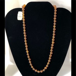 1950's Laguna for Tempo Tags Amber color necklace